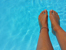 Relaxation at wimming pool Stock Photo