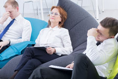 Relaxation at work Royalty Free Stock Photos