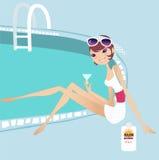 Relaxe ilustração stock
