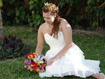Relaxe bride. Royalty Free Stock Photography