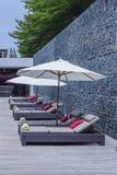 Relaxe cadeiras de praia Imagem de Stock Royalty Free