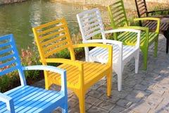 Relaxe cadeiras no parque Fotografia de Stock Royalty Free