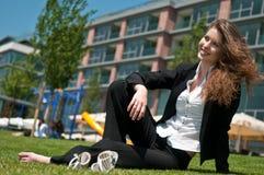 Relaxe durante o trabalho - pessoa do negócio Imagens de Stock Royalty Free