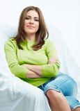 Relaxe a jovem mulher Foto de Stock Royalty Free
