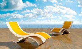 Relaxe na frente do mar Foto de Stock