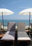 Relaxe na frente do mar Imagens de Stock