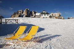 Relaxe na montanha alta Imagens de Stock Royalty Free