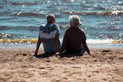 Relaxe na praia fotos de stock