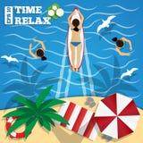 Relaxe na praia Imagem de Stock Royalty Free