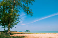 Relaxe na praia e no mar tropical imagens de stock