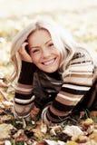 Relaxe nas folhas Fotos de Stock Royalty Free