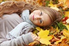 Relaxe nas folhas Imagem de Stock