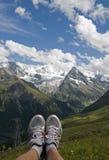 Relaxe nas montanhas Imagem de Stock
