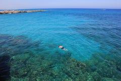 Relaxe no azul Foto de Stock
