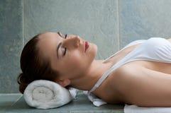 Relaxe no banho turco Imagens de Stock