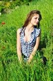 Relaxe no campo da mola Imagens de Stock Royalty Free