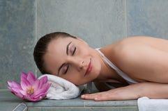 Relaxe no centro da beleza Fotografia de Stock Royalty Free