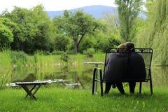 Relaxe no lago Imagens de Stock Royalty Free