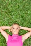 Relaxe no parque Imagens de Stock Royalty Free