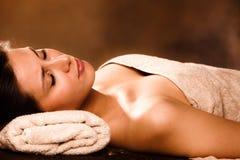 Relaxe nos termas Fotos de Stock Royalty Free