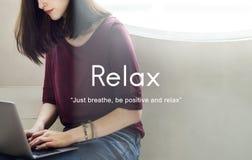 Relaxe o conceito da serenidade da paz do abrandamento fotos de stock