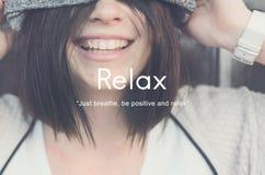 Relaxe o conceito da serenidade da paz do abrandamento fotos de stock royalty free