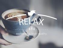 Relaxe o conceito da vida das férias da paz do frio do resto do abrandamento fotos de stock royalty free