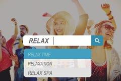 Relaxe o conceito de descanso despreocupado livre da paz do lazer do abrandamento fotos de stock