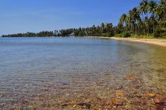 Relaxe o mar e a praia no console do coelho Imagem de Stock
