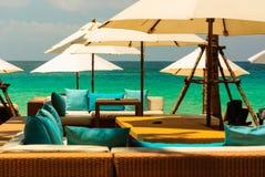 Relaxe o tempo com vista sobre o oceano Imagens de Stock