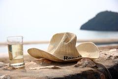 Relaxe o tempo na praia Imagens de Stock Royalty Free