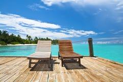 Relaxe pelo mar Imagem de Stock