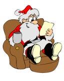 Relaxe Santa ilustração stock