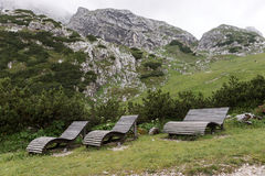Relaxe a zona nos cumes fotos de stock royalty free