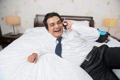 Relaxed бизнесмен стоковое фото