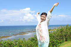 relaxed женщина Стоковое Изображение