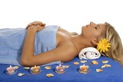 relaxed женщина Стоковые Изображения