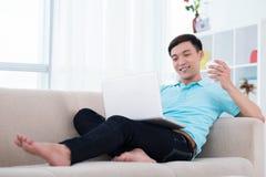 Relaxed парень стоковые изображения