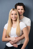 Relaxed affectionate young couple Royalty Free Stock Images