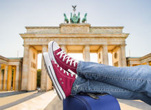 Relaxed arrival in Berlin Royalty Free Stock Photo
