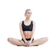 Relaxed athletic girl posing in studio Stock Photo