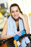 relaxed attractive young woman after exercise Royalty Free Stock Photography