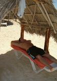 Relaxed at beach Royalty Free Stock Photos