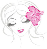 Relaxed beautiful women. Vector illustration  Royalty Free Stock Photos