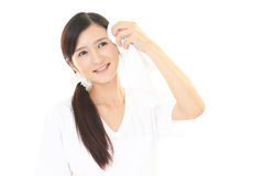 Relaxed beautiful young woman. Royalty Free Stock Photo