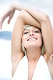 Relaxed blond Royalty Free Stock Images