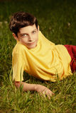 Relaxed boy Royalty Free Stock Photography