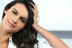 Relaxed brunette posing Stock Images