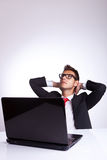Relaxed business man Royalty Free Stock Image
