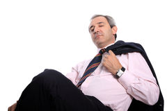 Relaxed business man Stock Image
